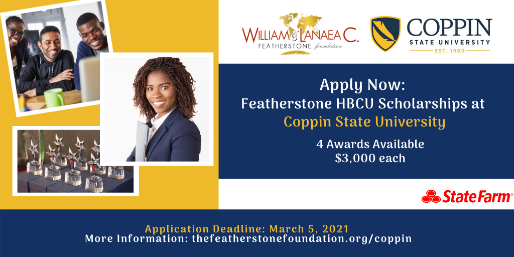 Copy of Featherstone College Scholarships - Coppin State University Admissions Application